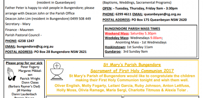 Bulletin Communion Mass