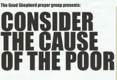 Consider the cause of the poor